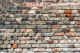 old grunge ruined brick wall background