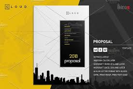 40 Creative Business Proposal Templates You Won't Believe Are Custom Proposal Template Microsoft Word