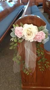 diy wedding church decorations pew decorations for wedding church