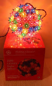 Ge Holiday Classic 100 Light Red Super Sphere Light Ge Holiday Classics 100 Light Super Sphere Multi Color Ball