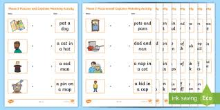 Ks1 english phase 2 phonics learning resources for adults, children, parents and teachers. Words And Pictures Ks1 Phonics Matching Worksheet Twinkl