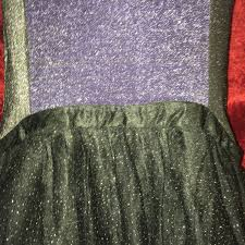 Mordt Original Design Purple Black Stretch Wiggle Sparkly Dress