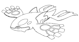 Legendary Pokemon Coloring Pages Kyogre Coloringstar