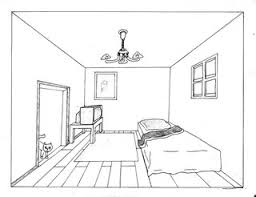 Drawn Bedroom Vanishing Point. Drawn Bedroom Perspective