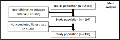 Flow Chart Of The Study Population The Complete Belfit