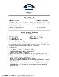 Sales Associate Job Description Resume The Best Letter Sales Job
