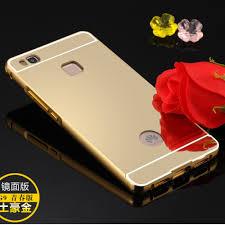 huawei p9 lite case. metal bumper+acrylic cover mirror case for huawei p9 lite (gold) | lazada malaysia