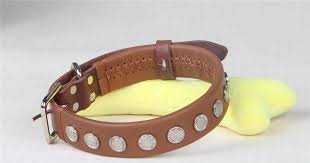 2019 collardirect rolled leather dog collar soft padded round puppy collar handmade genuine leather collar for dog large collars brown from rita0615