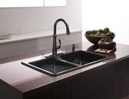 kohler deerfield double bowl top mount kitchen sink