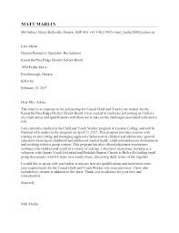 Sample Child Care Cover Letter Cover Letter For Care Worker No