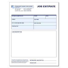 Sample Estimate Forms For Contractors Free Contractor Estimate Forms Business Mentor Loan Form Sample