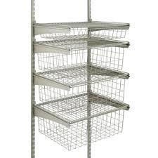 closetmaid 17 in d x 21 in w x 27 in h shelftrack 4 drawer kit steel closet system in nickel