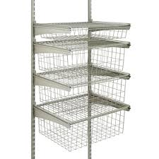 closetmaid 17 in d x 21 in w x 27 in h shelftrack 4 drawer kit steel closet system in nickel
