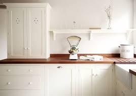 devol kitchens white kitchen no backsplash wood counters with a 3 lip of wood