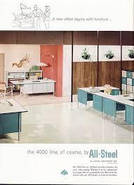 mad men style furniture. vintage ad allsteel 4000 line office furniture ca 1960 desk mad men era free u style