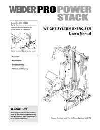 Weider 831 159833 Home Gym User Manual Manualzz Com