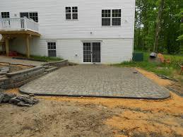 patio retaining wall and walkway brick