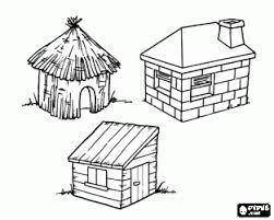 Dit Zijn De Drie Huizen Van De Drie Kleine Biggetjes Het Huis Van