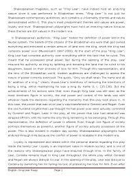 critical essay king lear king lear william shakespeare