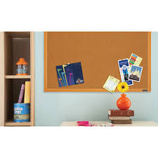 Cork Bulletin Board Mead Cork Bulletin Board 48 X 36 Oak Frame Walmartcom
