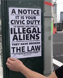 Flyer Urging Citizens To Report Illegal Aliens Appears In Lic
