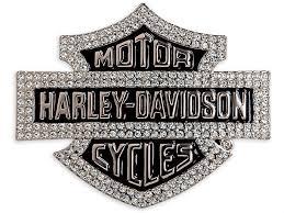 harley davidson bar and shield jewel buckle