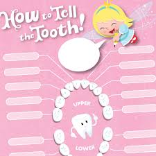 Which Baby Teeth Fall Out Chart Tooth Fairy Printables Lost Tooth Chart Hallmark Ideas