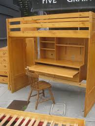 sold loft bed w desk chest of drawers and trundle bed 300