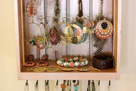 interior: Glorious Wooden Elements Creating The Diy Jewelry Holders With  Square Shape And Hung On