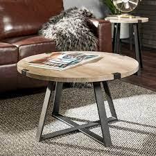 rustic round coffee table grey wash