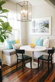 corner bench dining room chandelier image