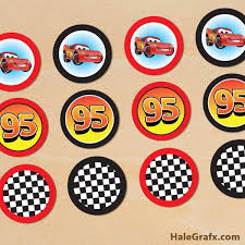 Free Printable Disney Cars Lightning Mcqueen Cupcake Toppers Arts