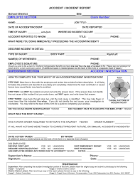 Accident Incident Report School District Site