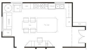 kitchen floor plans design