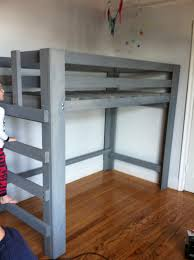 Loft bed, Grey Washed
