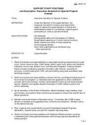 Executive Assistant Job Description Magnificent Position Description Executive Assistant