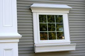 ... Great Exterior Window And Door Trim Design Ideas For Your Inspiration :  Incredible Grey Wooden Wall ...