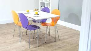 coloured kitchen table and chairs 4 white gloss dining table and colourful dining chairs cream coloured
