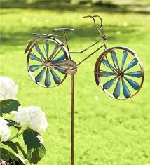 metal garden spinners bicycle wind spinners metal bicycle wind spinner garden stake wind spinners whirligigs large metal garden spinners