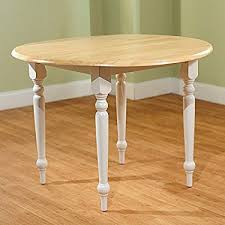 solid rubberwood cottage style 40 inch diameter round dining table with double drop leaf constructed solid