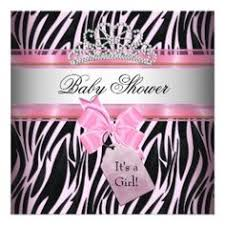 Baby Shower Invitations Zebra With Hot Pink Baby Shower Pink Zebra Baby Shower Invitations