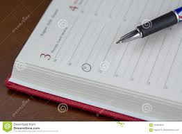 Agenda Office Business Concept With Paper Agenda And Pen Stock Photo Image Of