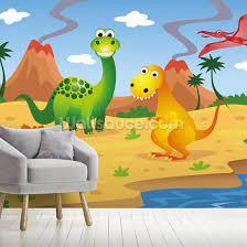 fun dinosaurs wall mural wallsauce no