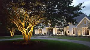 in addition to bringing your home s architectural facade to life outdoor lighting can also accentuate your flowering plants landscape and trees
