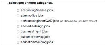 Job Posting Site Craigslist About Help Job How