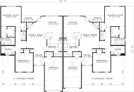 Candlewick Park Duplex Home Plan 055D0394  House Plans And More4 Bedroom Duplex Floor Plans