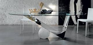 glass home office desks. Enchanting Glass Office Table Using Polished Chrome Leg On Concrete Ing Design In Home Desks A