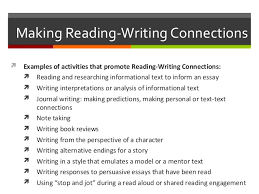 elementary education task  9 making reading writing connections iuml131not examples