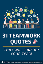 31 Teamwork Quotes That Will Fire Up Your Team Team Quotes