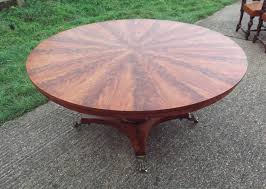 5ft diameter regency table georgian revival flame mahogany dining table to seat 8 people
